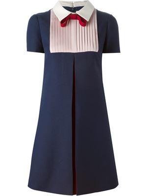 плиссированное платье А-образного кроя
