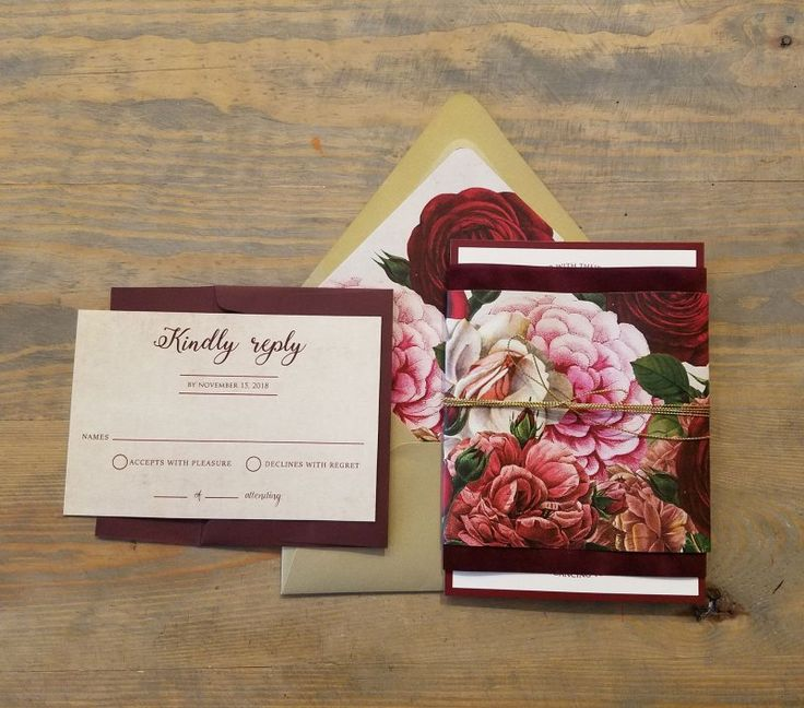 Velvet Wedding Invitations - Raspberry Creative
