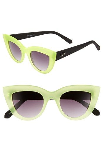 Quay 'Kitti' Sunglasses in Green/Black (most wanted) or Black $38