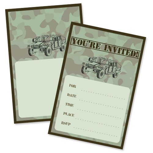 Army Party Invitations From PrintableTreats