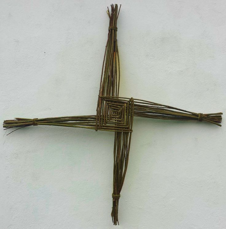 Giant St. Brigid's Cross made from willow