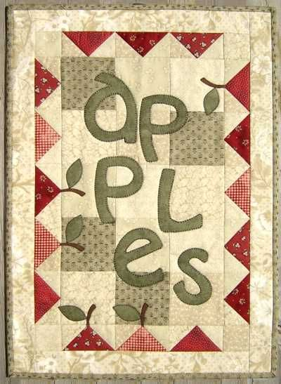 ~ Apples Appliqued Wall Quilt