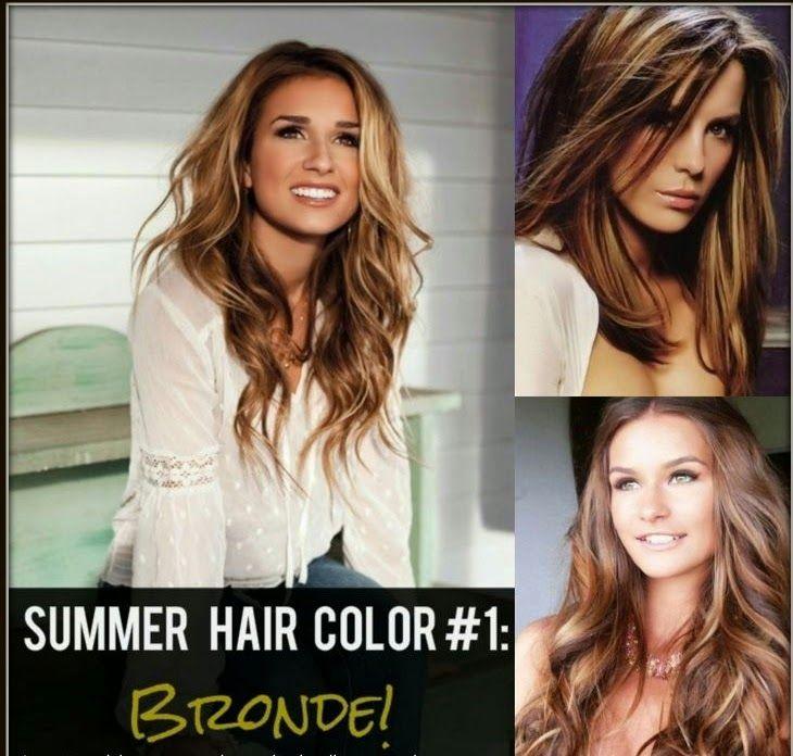 Summer Hair Color Highlights:Bronde Blonde brunette highlights for summer
