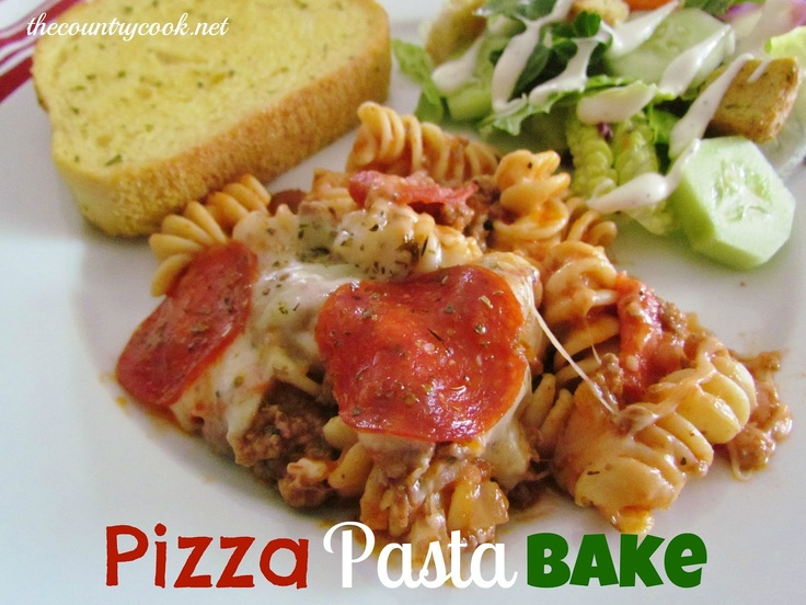 Pizza Pasta BakeDinner, Recipe, Maine Dishes, Ground Beef, Pizza Casserole, Food, Country Cooking, Youth Groups, Pizza Pasta Baking