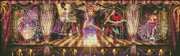 Theatre of the Absurd Tryptic [MARCHETTI19] - $10.45 : Heaven And Earth Designs, cross stitch, cross stitch patterns, counted cross stitch, christmas stockings, counted cross stitch chart, counted cross stitch designs, cross stitching, patterns, cross stitch art, cross stitch books, how to cross stitch, cross stitch needlework, cross stitch websites, cross stitch crafts