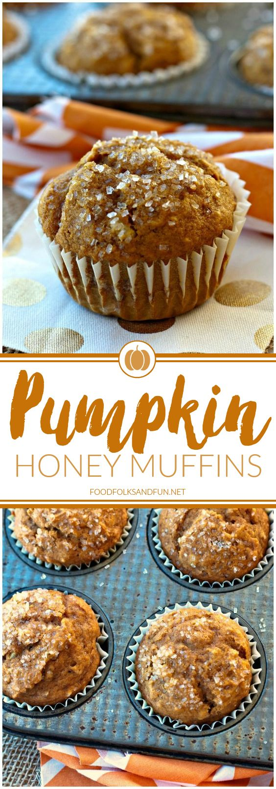 These pumpkin honey muffins are easy to make and made with honey instead of sugar! They're also an easy breakfast option for weekdays or holidays! | Pumpkin Recipe | Fall Recipe | Breakfast Recipe | Brunch Recipe