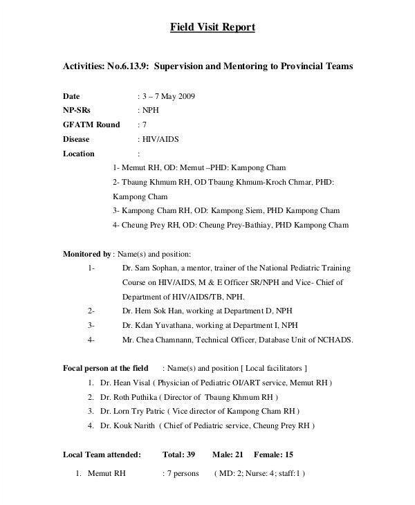 8 Visit Report Examples Samples Pdf Doc Sample Lab