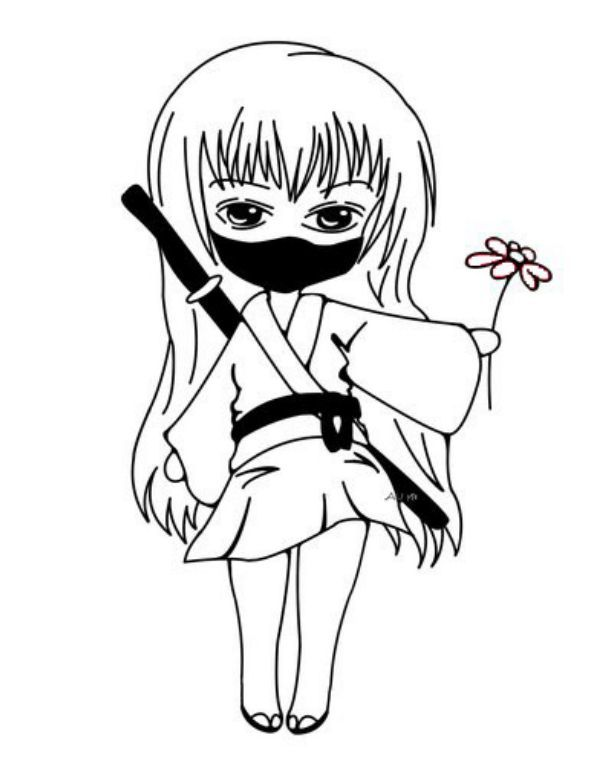 Ninja Coloring Pages Cute Ninja Girl Ninja Turtle Coloring Pages Turtle Coloring Pages Ninjago Coloring Pages