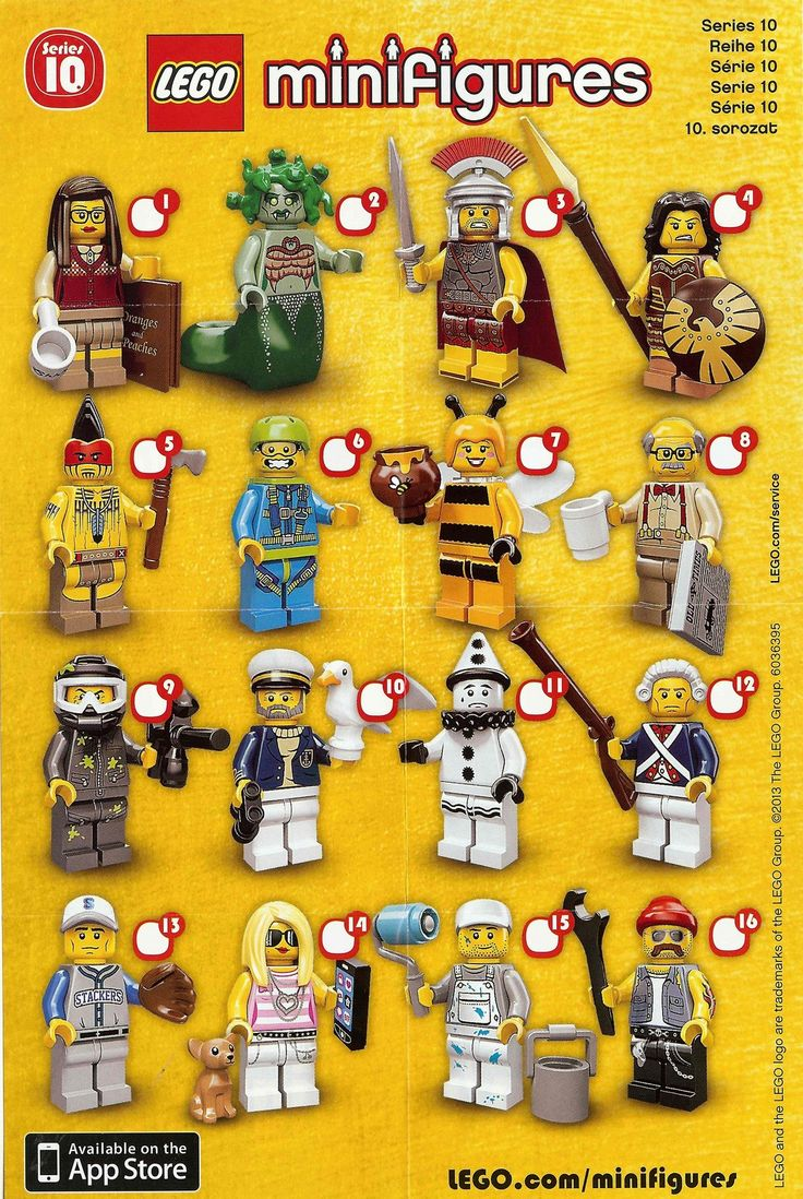 Lego minifigures series 10 checklist they have a librarian and house painter