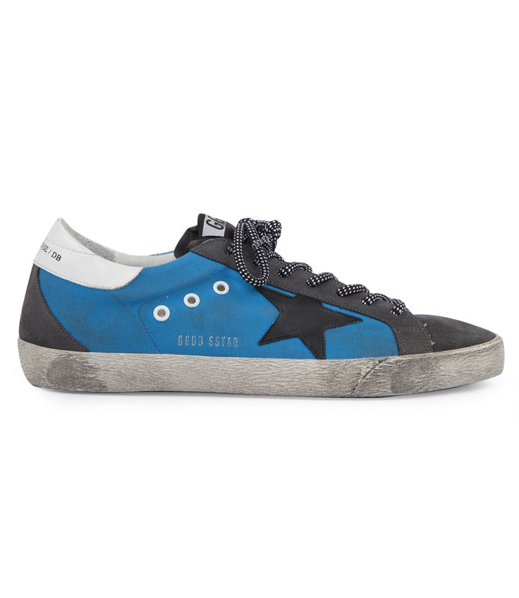 COTTON CANVAS SUPERSTAR SNEAKERS WITH LEATHER STAR