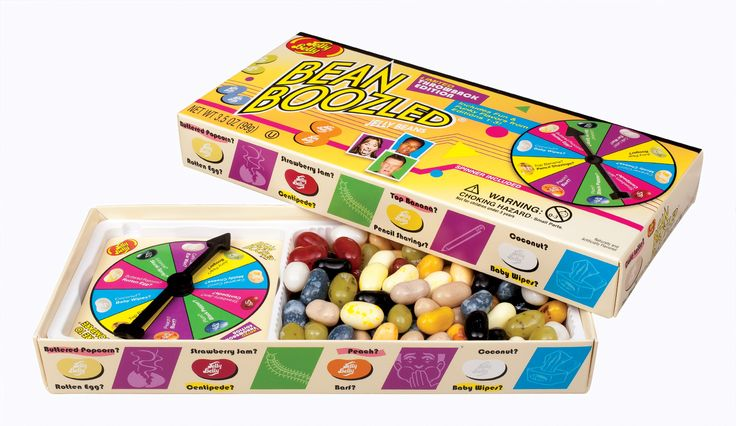 Bamboozle the kids, family, friends, or just about anyone, with the Jelly Belly BeanBoozled® Throwback edition Spinner Gift Box. Jelly Belly time travels back to the funky days of the 1st, 2nd, and, 3rd editions with this limited edition spinner gift box which includes 10 delicious flavors along with 10 weird flavors you all missed: Centipede, Pencil Shavings, Moldy Cheese or Rotten Egg.