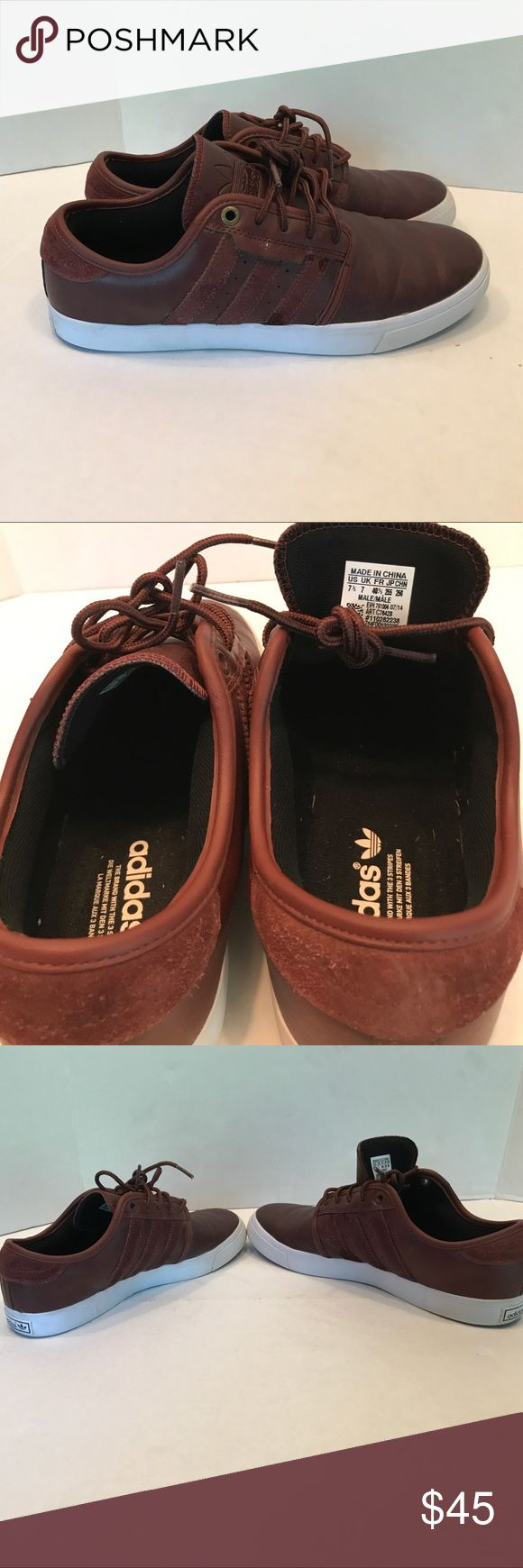 Adidas Originals Leather Burgundy Shoe size 7.5 Adidas Originals Leather Burgundy Men Shoe size 7.5 7 1/2 suede stripes adidas Shoes Sneakers