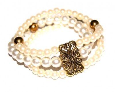 Bransoletka Perłowa Ecru #bracelet #bransoletka