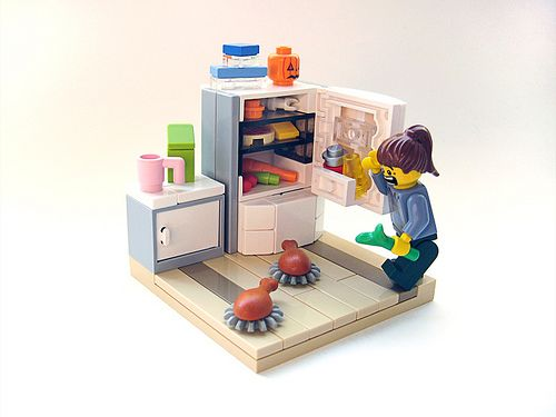 Leftovers | Flickr - Photo Sharing! ~ Love the innovative fridge design.
