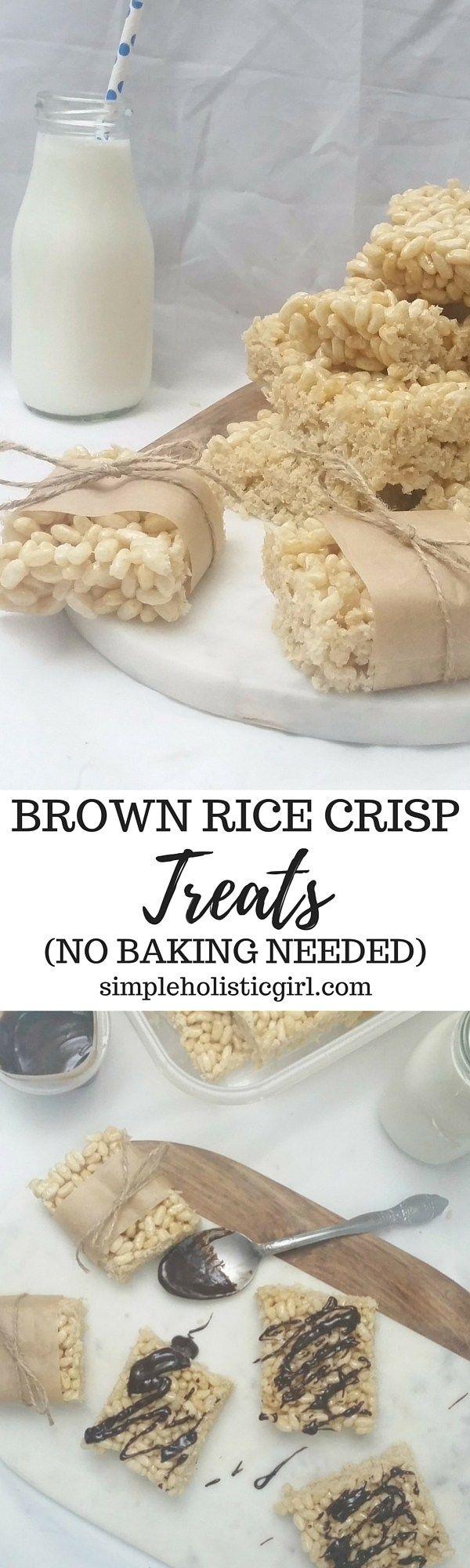 Brown Rice Crisp Treats (No Baking Needed)