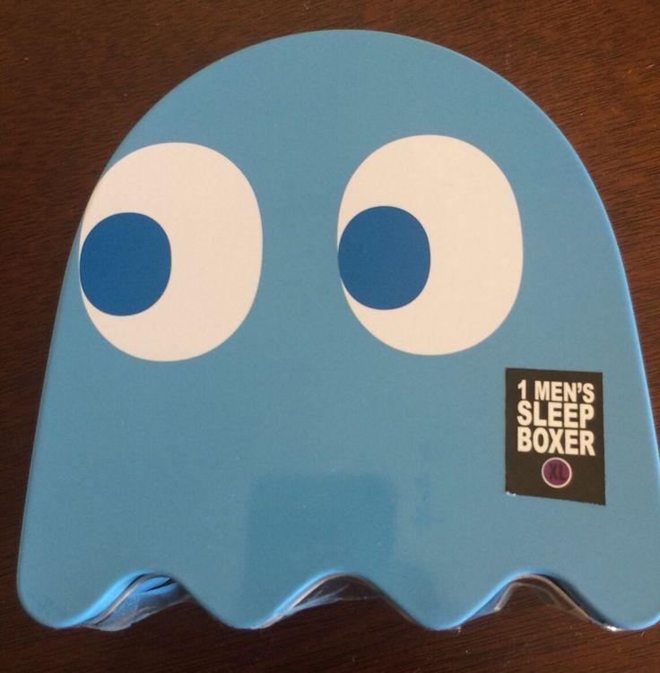 Namco Bandai Pac Man Inky Ghost Boxers Pajamas Xl In Coin Bank Tin Gift New #NamcoBandai