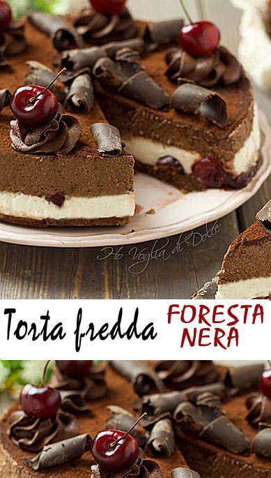 La torta fredda foresta nera, è una rivisitazione della classica torta foresta nera ma in chiave estiva e soprattutto senza forno!