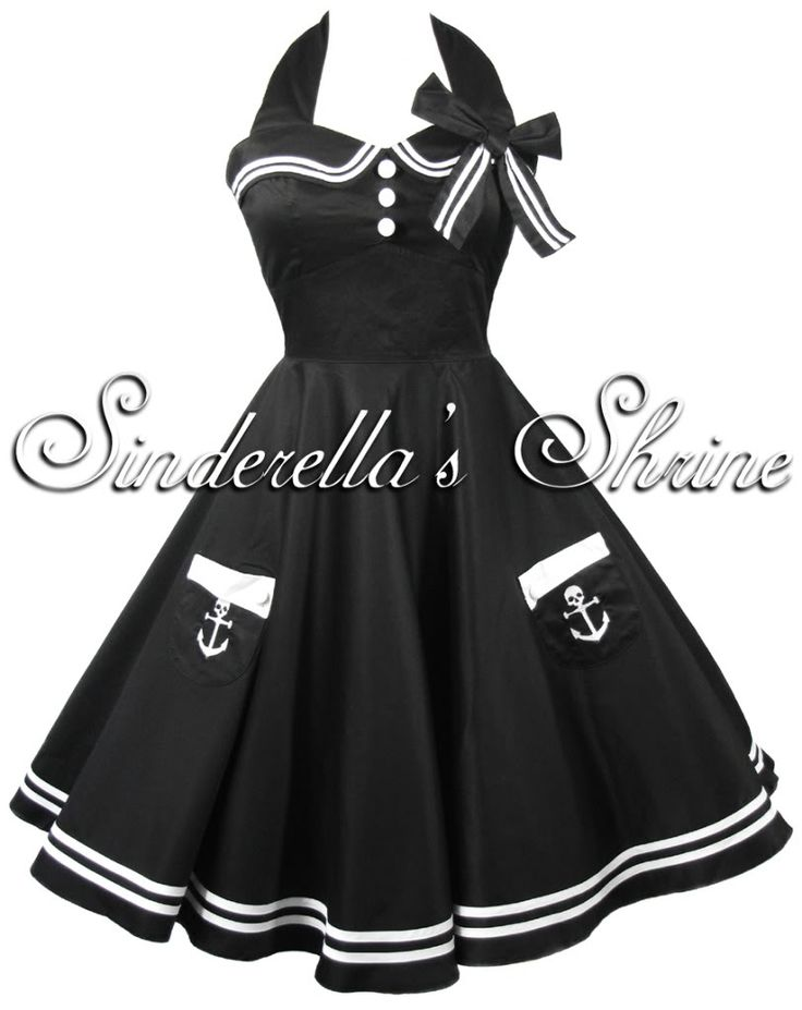 HELL BUNNY ~MoTLeY~ 50s Pin-Up Sailor Party Dress 6-16 $75