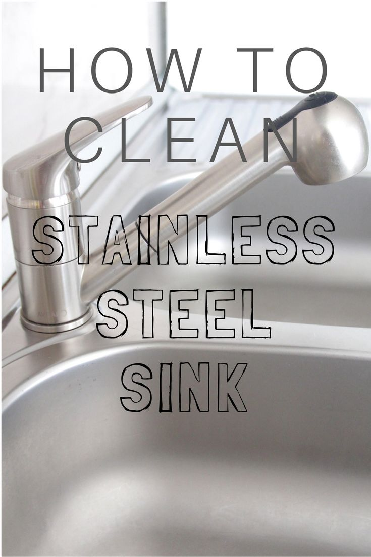 HOW TO CLEAN STAINLESS STEEL SINK -  Cleaning a stainless steel sink just got better and a whole lot easier! This is the best way to clean stainless steel sink without heavy chemicals!  #cleaningtips #cleaninghacks #cleaning