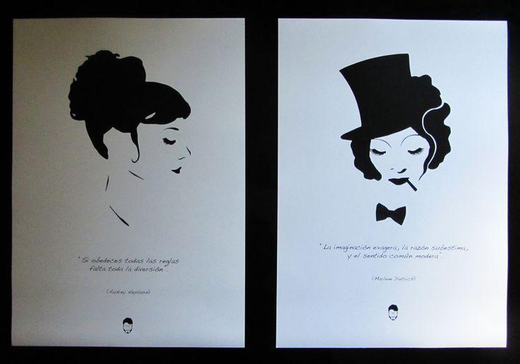 Audrey Hepburn y Marlene Dietrich