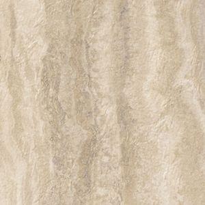 "Tarkett Premiere GroutLess Tile Onyx Travertine Classic Warm Gatherings- 12""x12"" Vinyl floors, bathroom floors, laundry room floor, utility room, basement floors, flooring ideas, lake house, beach house, vinyl tile, stone look floors, waterproof floors, dog friendly, kid friendly, light tile, cream tile"