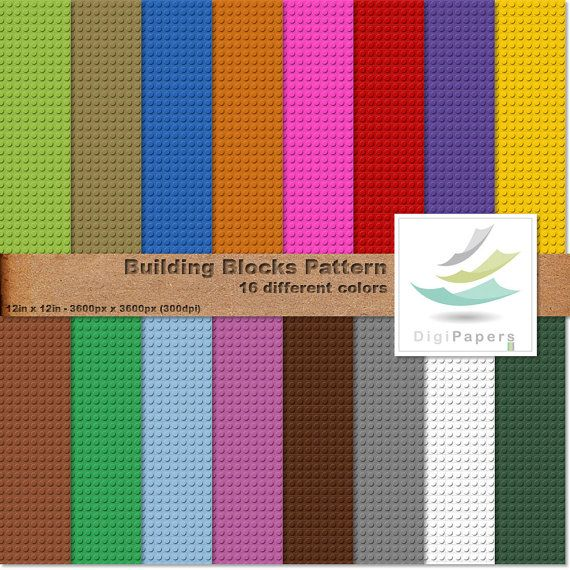 Building blocks pattern by DigiPapers