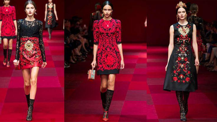 Страстные испанки в весенне-летней коллекции Dolce&Gabbana