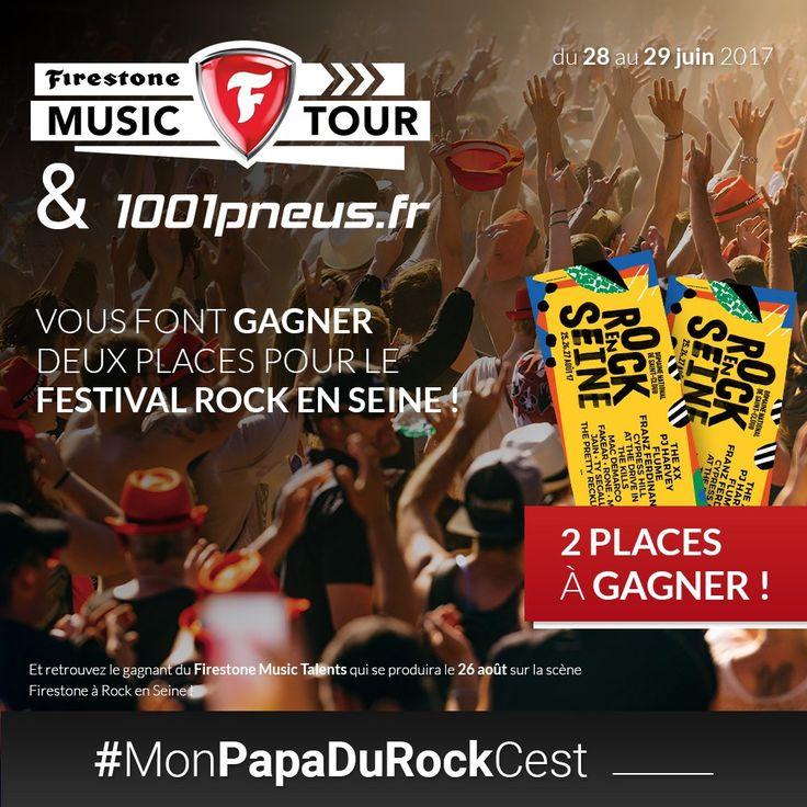 #Concours  Cet été, prenez la route pour ROCK EN SEINE avec @FirestoneTires & @1001pneus  ► Pour jouer RT + Tw #MonPapaDuRockCest !