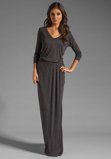 maxi dress with long sleeves......cute for chilly spring/summer nights