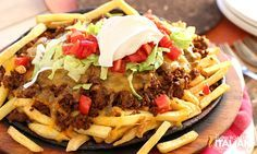 Fully Loaded Cheesy Taco Fries  No tortillas necessary.