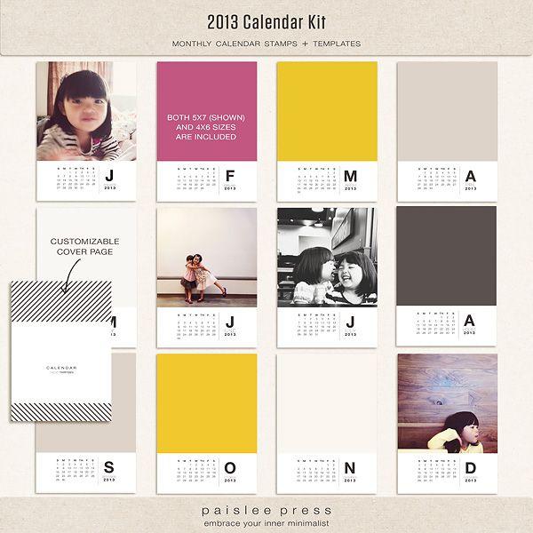 2013 Paislee Press calendar