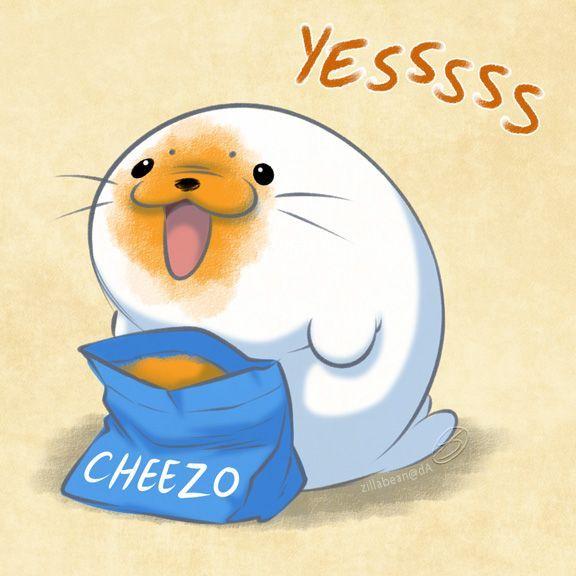 Harp Seal Friend Cheesy By Zillabean On Deviantart In 2020 Cute
