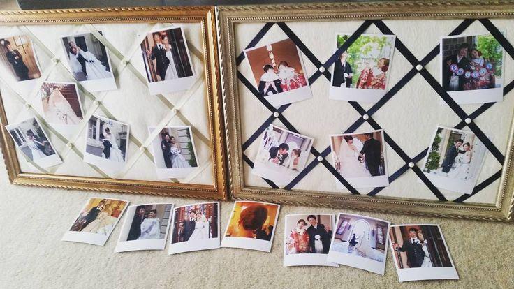 #インスタプリ で注文した写真が届きました〜☺ さっそく#リボンボード に飾ってみたけどいい感じ😊💓 割引コードを教えてくださった同じ北海道花嫁さまに感謝です❤ありがとうございます❤  8月12日までの割引コードあるので注文される方いたらDMしてください✨  三連休は引きこもって#結婚式準備 ! さーがんばろう🙌🙌🙌 #ペルメル #instaprints  #プレ花嫁 #北海道花嫁 #2016夏婚 #team0806