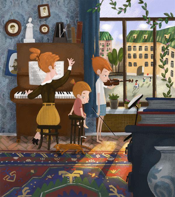 vacation by Olga Demidova, via Behance