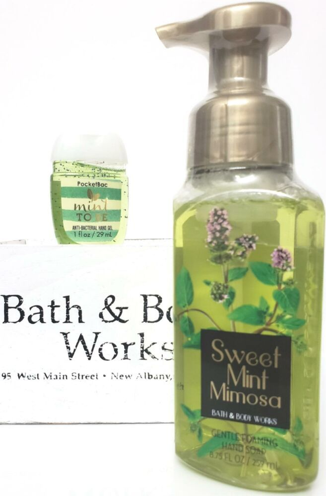 Bath And Body Works Sweet Mint Mimosa Hand Soap Pocketbac