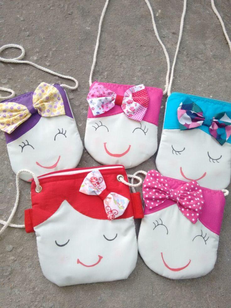 Bolsa De Tecido Tiracolo Passo A Passo : Bolsa de boneca material pano e barbante bonecas
