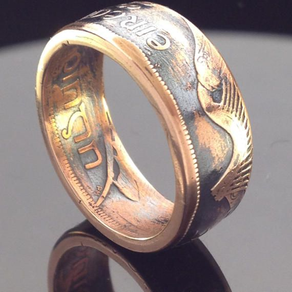 Irish One Penny Coin Ring 1928-1937