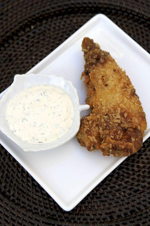 Awesome Buttermilk Fried Chicken Tenders Eat u Drink u Garden u Santa Barbara California