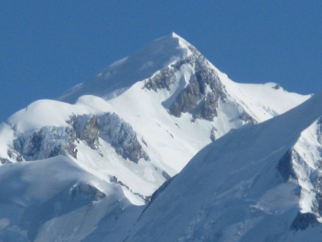 The summit of Mont Blanc, seen from St. Gervais