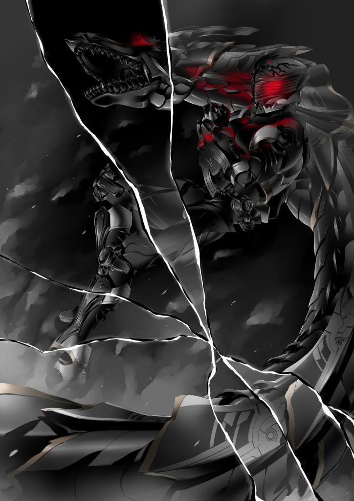 Kamen Rider dark ryuki by takkynoko