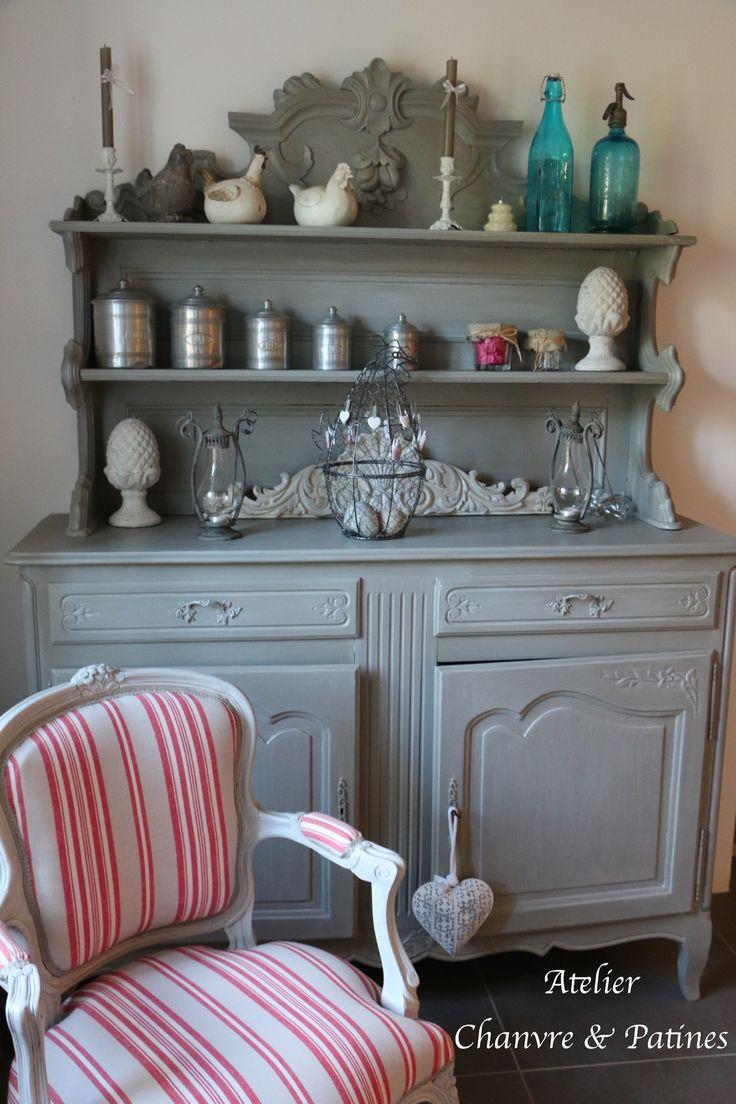 494 best meubles peints et patin s images on pinterest painted furniture furniture makeover. Black Bedroom Furniture Sets. Home Design Ideas