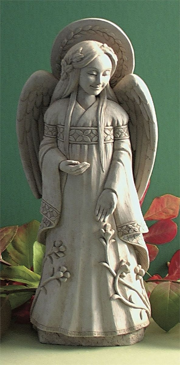 """""""Hope"""" by George Carruth. I love the Hope angel and have given her as a gift many times. She look beautiful in the garden surrounded by flowers."""