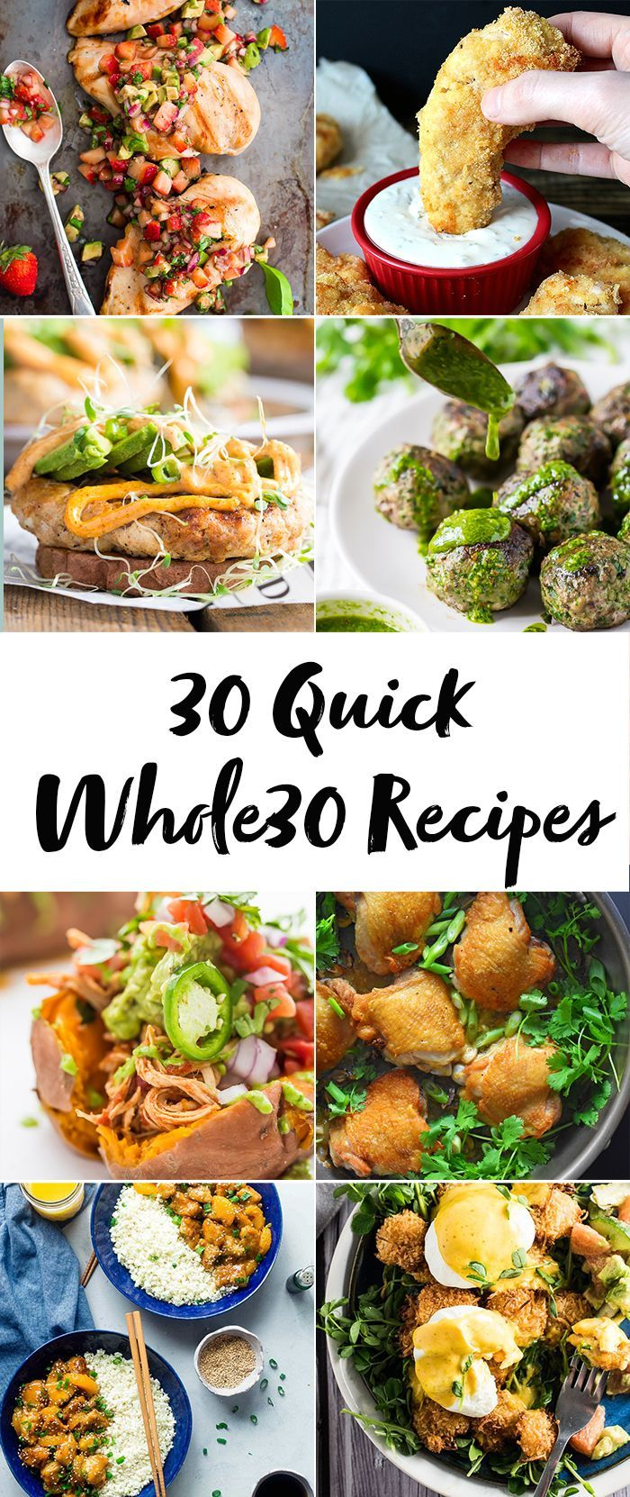 These 30 quick Whole30 recipes are full of flavor but quick and easy! They'll become some of your favorite quick Whole30 recipes for sure.