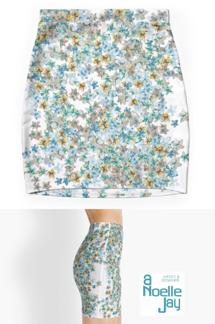 Floral colorful and bold skirt for your adventures this spring! Take my products on spring break trips in colorful carry on bags. Find gifts for Mother's Day, birthdays and graduations by @anoellejay and @redbubble https://www.redbubble.com/people/anoellejay/works/26275527-little-flowers-for-you?p=pencil-skirt&rbs=