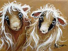 Moutons deux laines  5'' x 7''