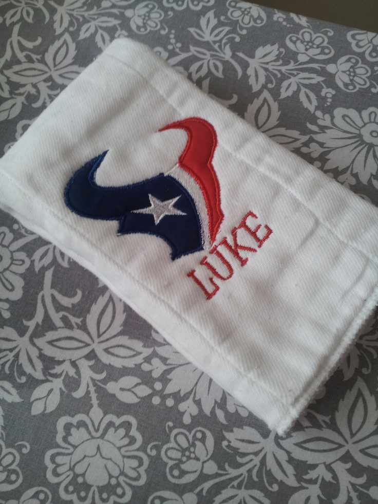 145 best houston texans baby stuff images on pinterest texans baby shower gift idea houston texans personalized burp cloth by personalizedbypriss 1200 negle Choice Image