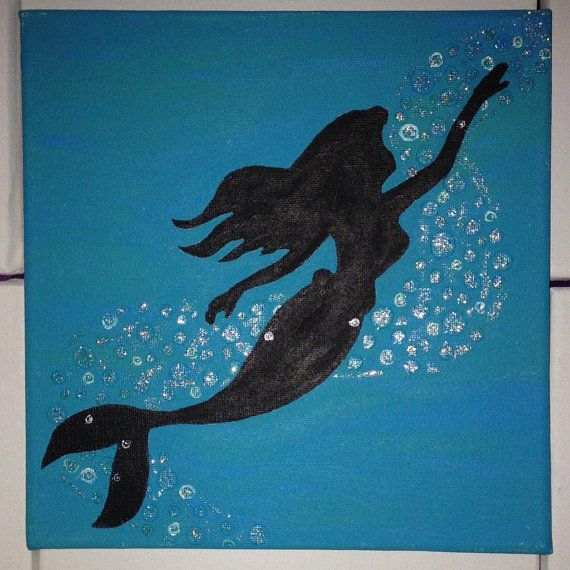 Disney The Little Mermaid's Ariel Silhouette by BeaCreativeArt