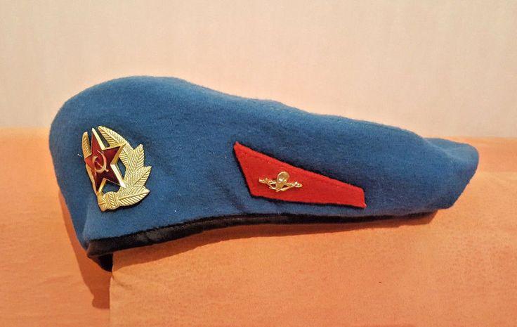 VDV Paratrooper Soviet 1991 Russian VDV Original Hat Cap Beret USSR Uniform 59
