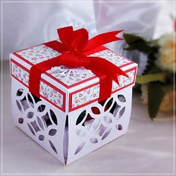 pudełka-Róża w pudełku dla Babci - dedykacja w środku