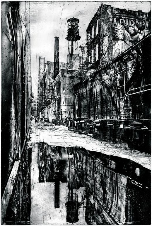 "Saatchi Online Artist: Michael Goro; other 2008 Printmaking ""Reflections"""